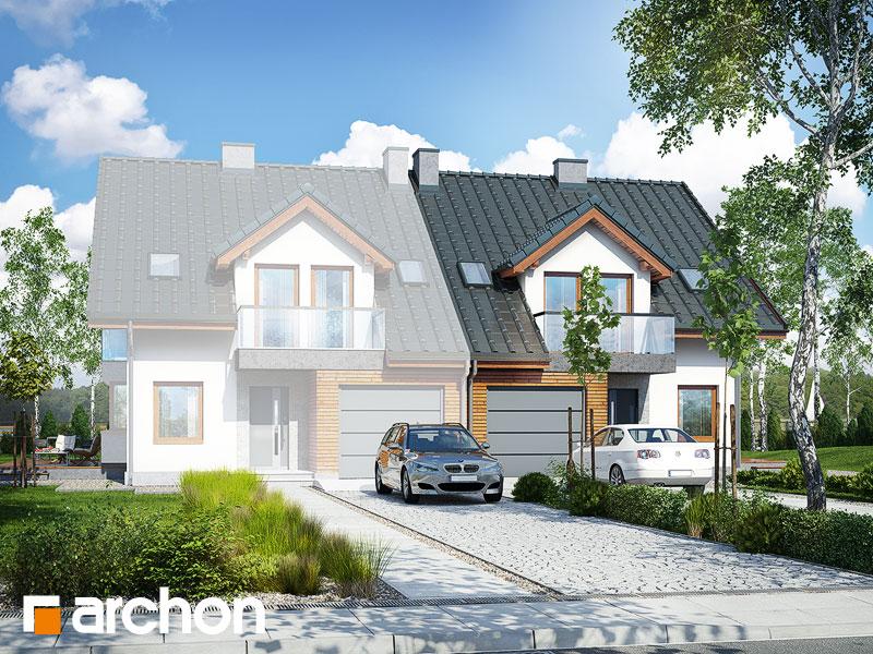 projekt Dom w klematisach 15 (B) widok 1