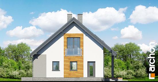 Elewacja boczna projekt dom w zurawkach 2 t  265