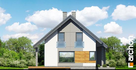 Elewacja boczna projekt dom w zurawkach 2 t  266