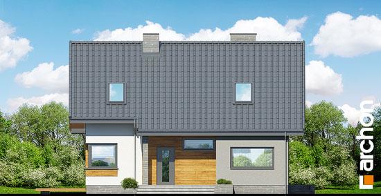 Elewacja frontowa projekt dom w zurawkach 2 t  264