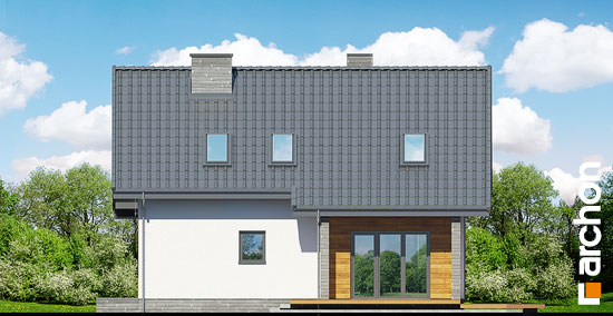 Elewacja ogrodowa projekt dom w zurawkach 2 t  267