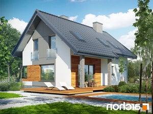 projekt Dom w żurawkach 2 (T) lustrzane odbicie 2