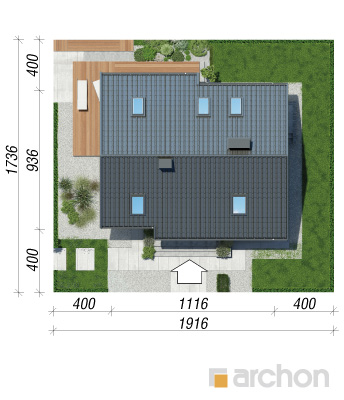 projekt Dom w żurawkach 2 (T) sytuacja