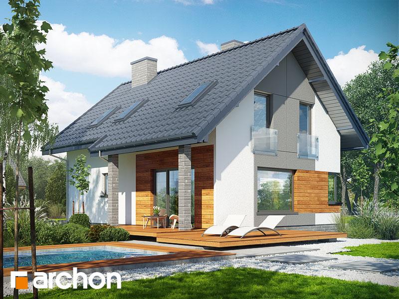 gotowy projekt Dom w żurawkach 2 (T) widok 1