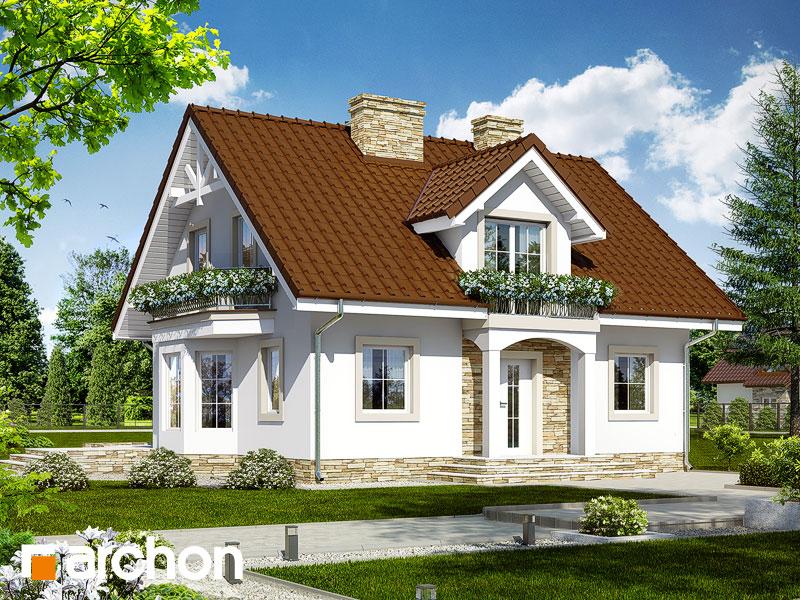 gotowy projekt Dom w rododendronach 6 (WP) widok 1