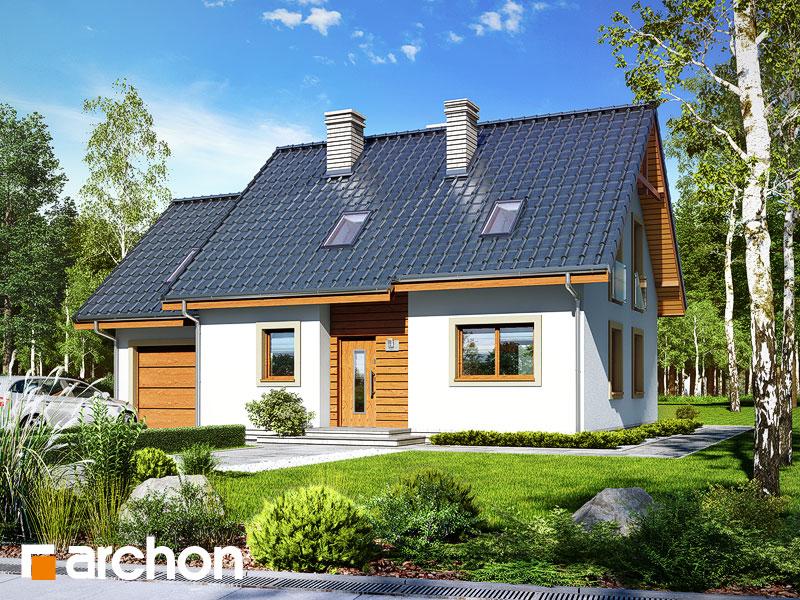 gotowy projekt Dom w poziomkach 6 widok 1