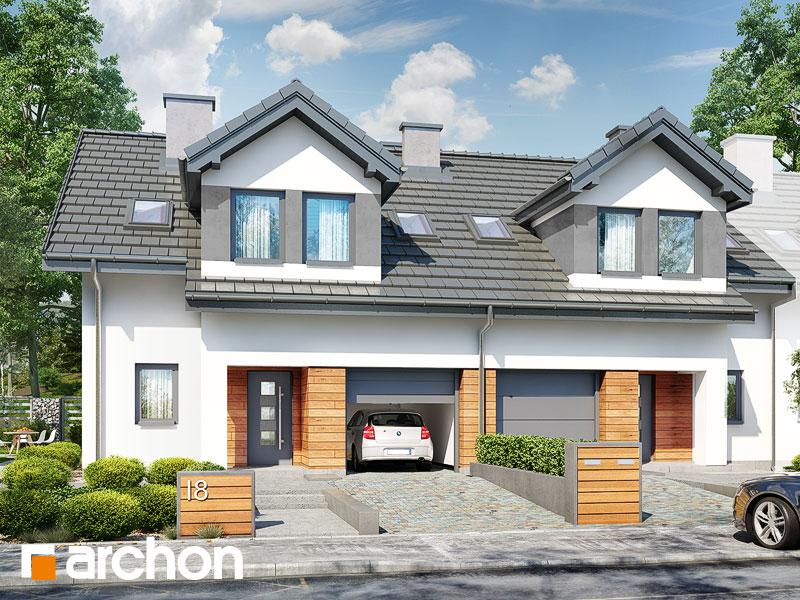 gotowy projekt Dom w klematisach 19 (R2B) widok 1