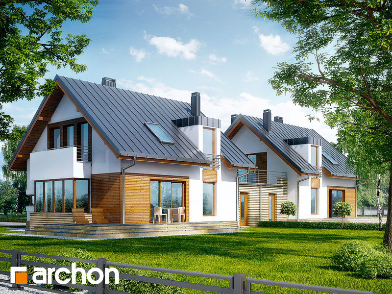 gotowy projekt Dom w kardamonie (R2T) widok 1