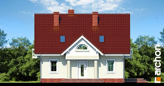 Elewacja frontowa projekt dom w truskawkach 2 ver 2  264