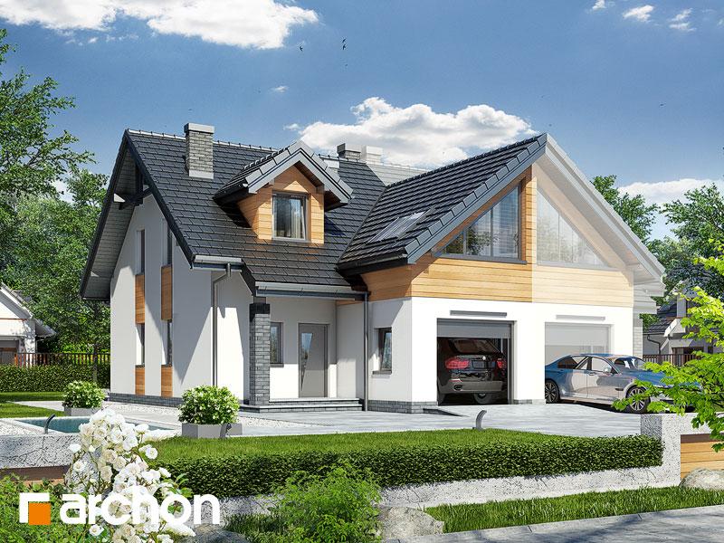 gotowy projekt Dom w klematisach 11 (B) widok 1