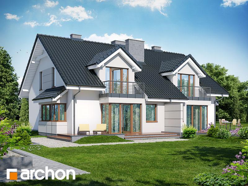 gotowy projekt Dom w klematisach 7 widok 2