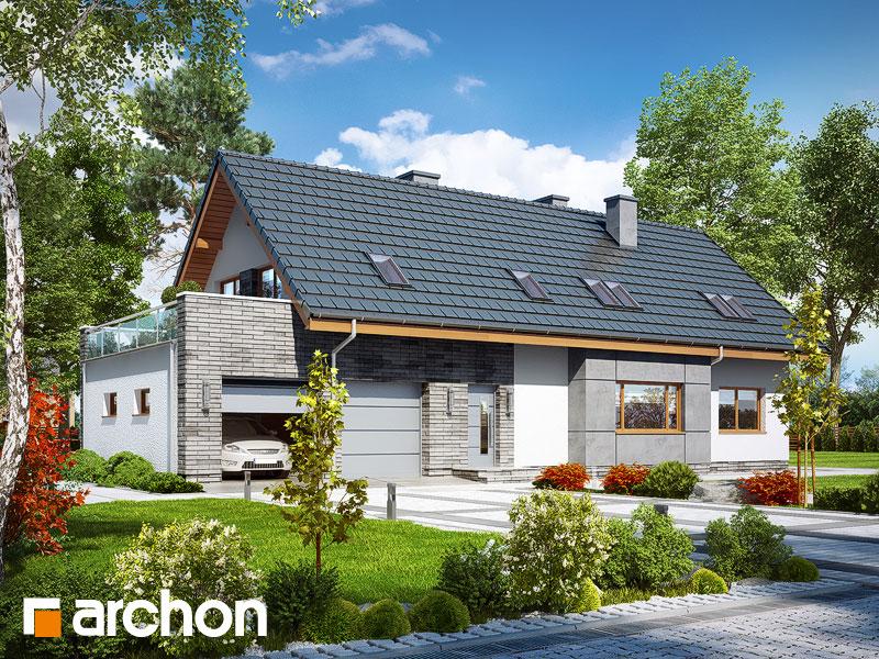 gotowy projekt Dom w bławatkach 2 (N) widok 1