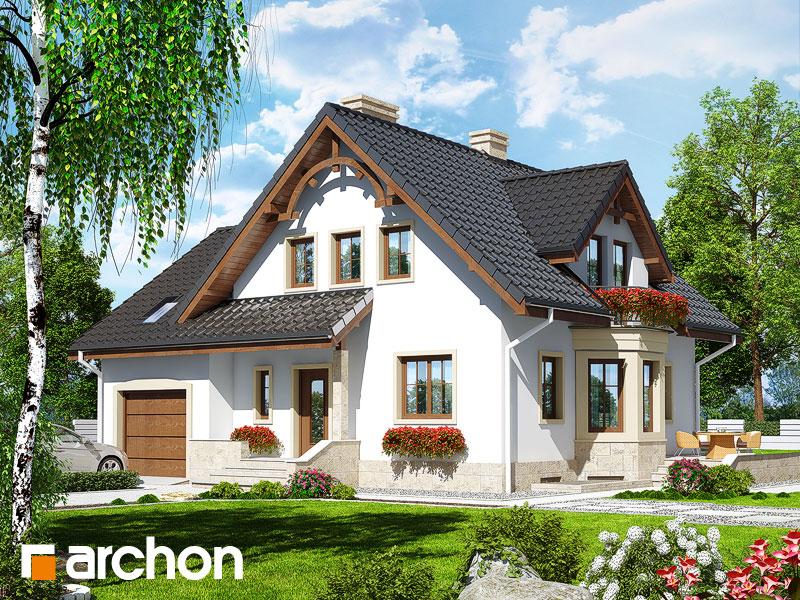 gotowy projekt Dom w tamaryszkach 2 (P) widok 1