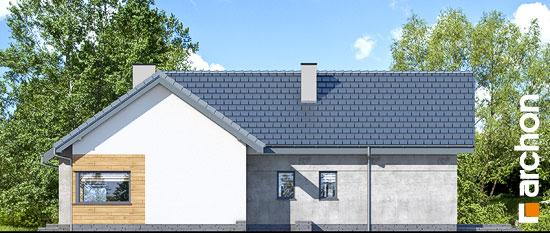 Elewacja boczna projekt dom w galach 3 p  265