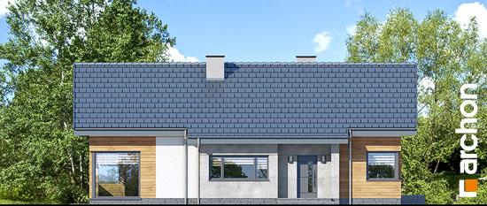 Elewacja frontowa projekt dom w galach 3 p  264