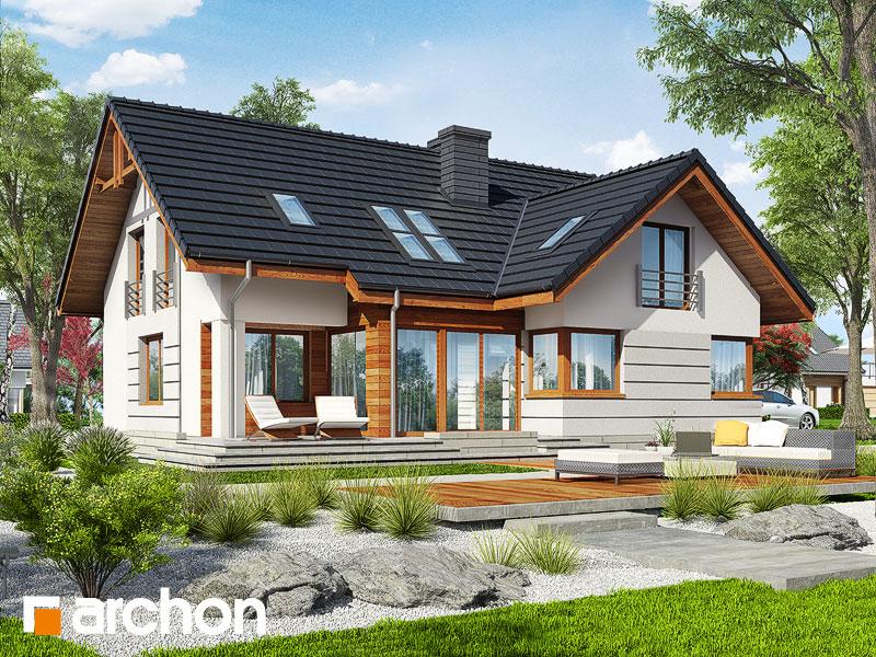 gotowy projekt Dom w chmielu widok 1