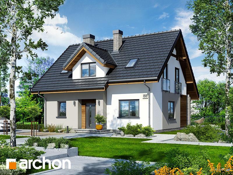 gotowy projekt Dom w zielistkach 5 widok 1