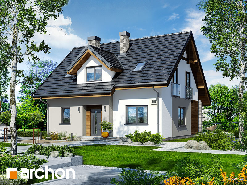 projekt Dom w zielistkach 5 widok 1