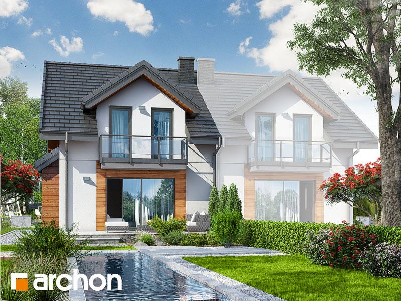 gotowy projekt Dom w klementynkach (B) widok 1