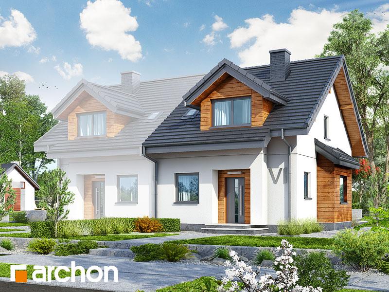gotowy projekt Dom w klementynkach (B) widok 2