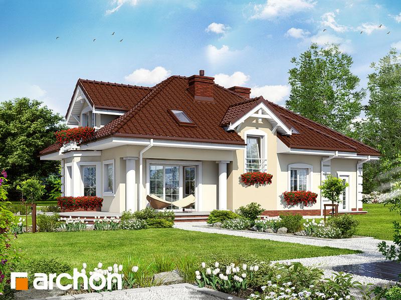 gotowy projekt Dom w jeżówkach 2 widok 1