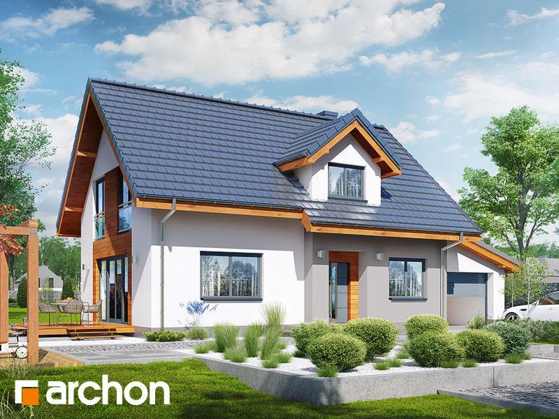 gotowy projekt Dom w zielistkach 7 (G) widok 1