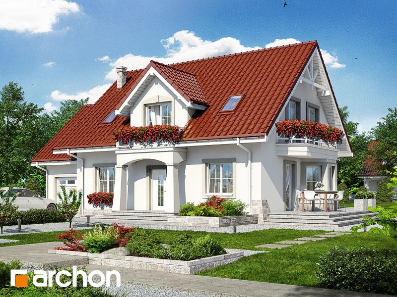 gotowy projekt Dom w lewkoniach 2 (P) widok 1