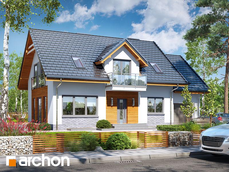 gotowy projekt Dom w rododendronach 16 (P) widok 1
