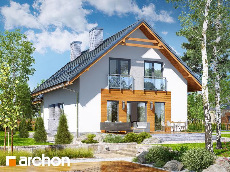 gotowy projekt Dom w rododendronach 16 (P) widok 2