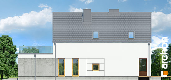 Elewacja boczna projekt dom pod lukuma  265