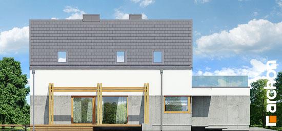 Elewacja boczna projekt dom pod lukuma  266
