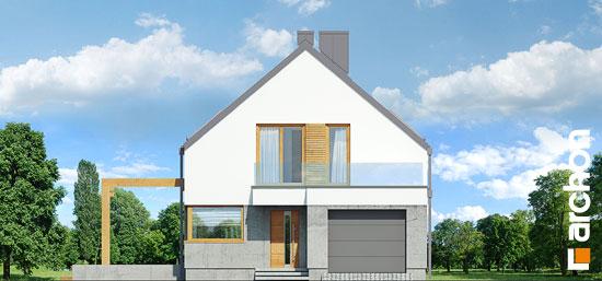 Elewacja frontowa projekt dom pod lukuma  264