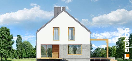 Elewacja ogrodowa projekt dom pod lukuma  267
