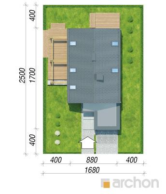 projekt Dom  pod lukumą sytuacja