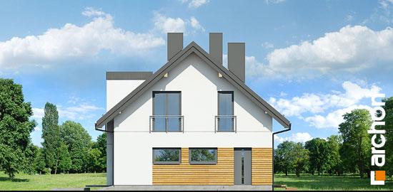 Elewacja boczna projekt dom w komosach  265