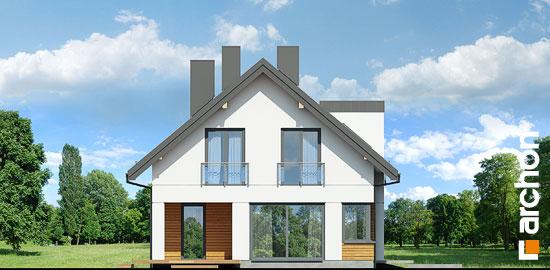 Elewacja boczna projekt dom w komosach  266