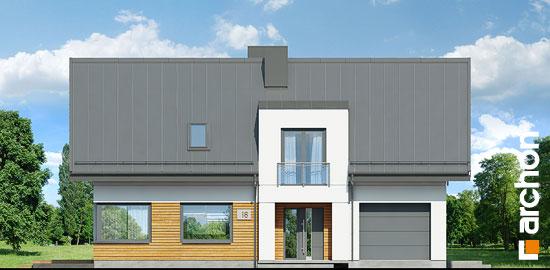 Elewacja frontowa projekt dom w komosach  264