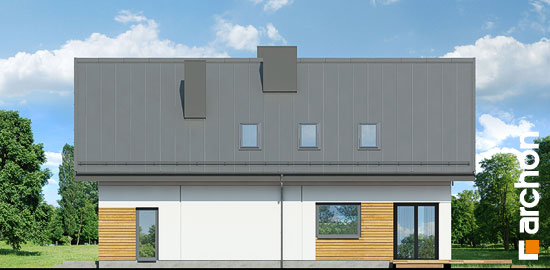 Elewacja ogrodowa projekt dom w komosach  267