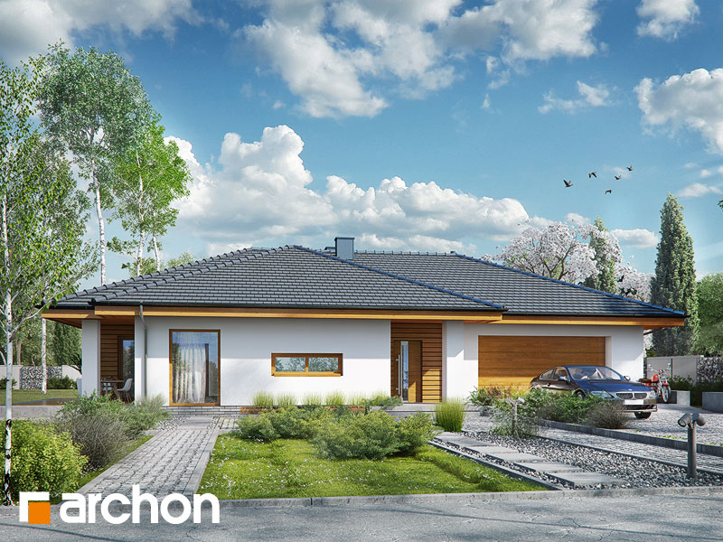 gotowy projekt Dom w amarantusach 6 (G2) widok 1
