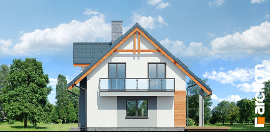Elewacja boczna projekt dom w zielistkach 5 p  265