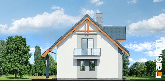 Elewacja boczna projekt dom w zielistkach 5 p  266