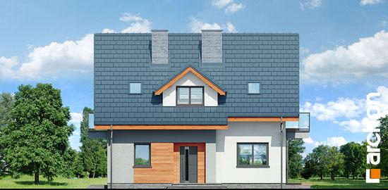Elewacja frontowa projekt dom w zielistkach 5 p  264