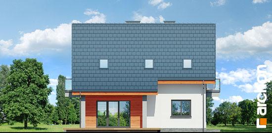 Elewacja ogrodowa projekt dom w zielistkach 5 p  267
