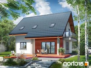 projekt Dom w zielistkach 5 (P) lustrzane odbicie 2