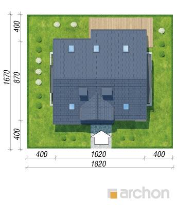 projekt Dom w zielistkach 5 (P) sytuacja