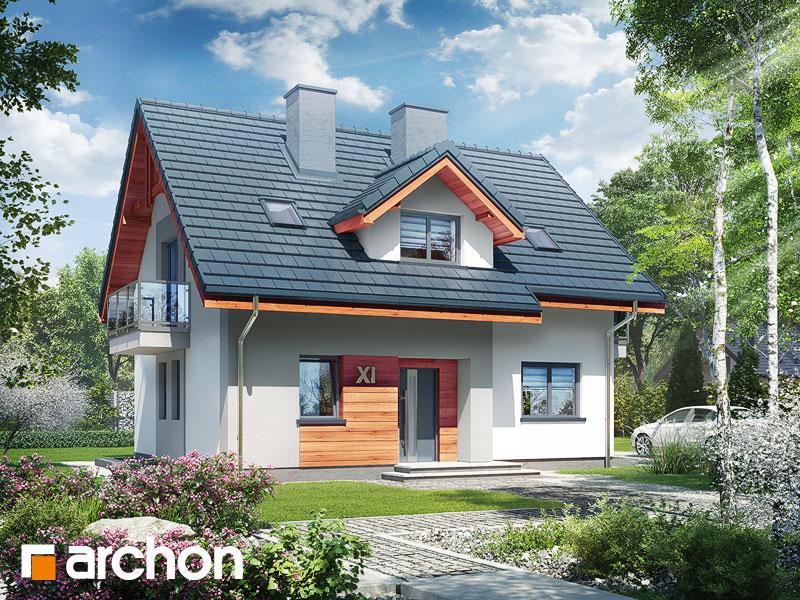 gotowy projekt Dom w zielistkach 5 (P) widok 1
