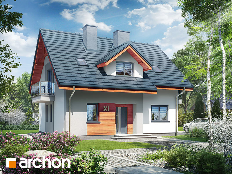 projekt Dom w zielistkach 5 (P) widok 1