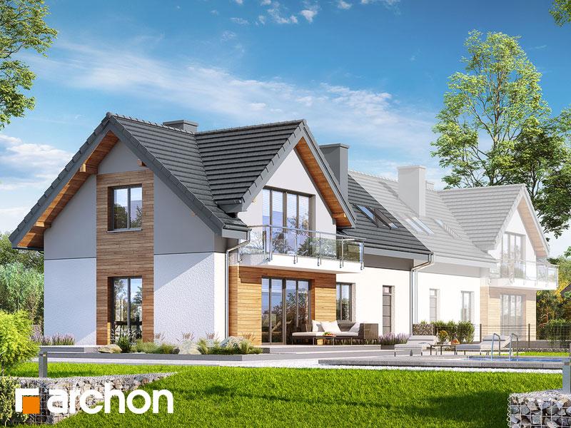 gotowy projekt Dom w malinówkach 5 (B) widok 1