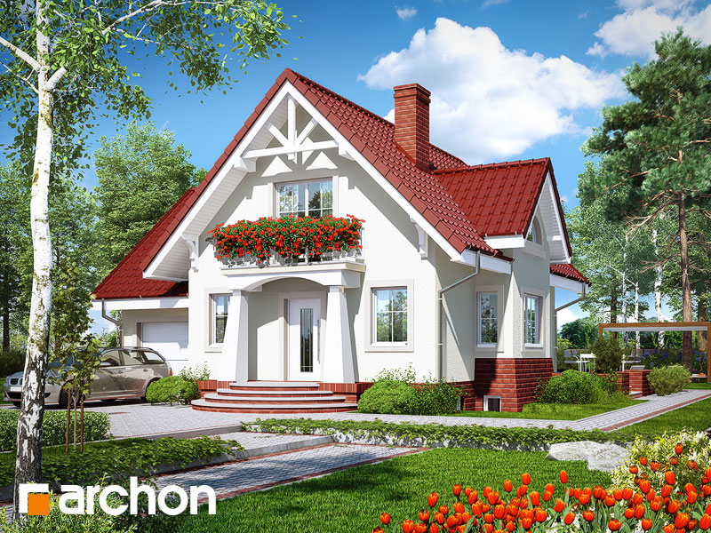 gotowy projekt Dom w morelach (P) widok 1