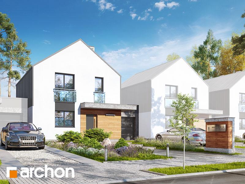 gotowy projekt Dom w arkadiach 3 (GS) widok 1